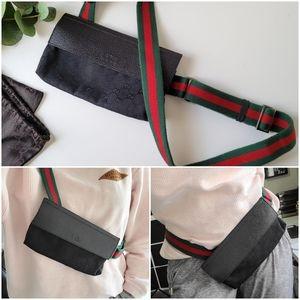 Authentic Gucci Sherry web monogram body belt bag